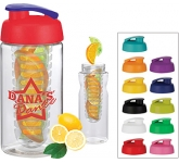 H20 Triathlon 500ml Flip Top Fruit Infuser Water Bottle  by Gopromotional - we get your brand noticed!