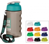 H20 Triathlon 500ml Flip Top Lanyard Promotional Water Bottle  by Gopromotional - we get your brand noticed!