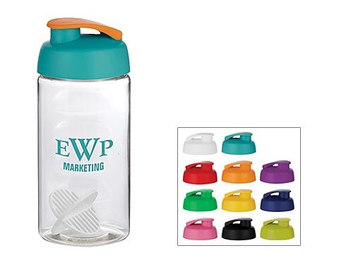 H20 Triathlon 500ml Flip Top Shaker Ball Water Bottle