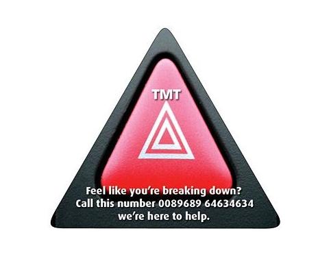 Triangle Shaped Fridge Magnets - Small