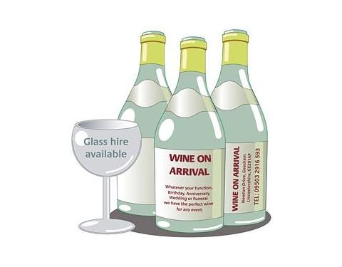 Wine Shaped Fridge Magnets - Medium