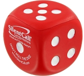 Dice Promotional Stress Toys With Dot