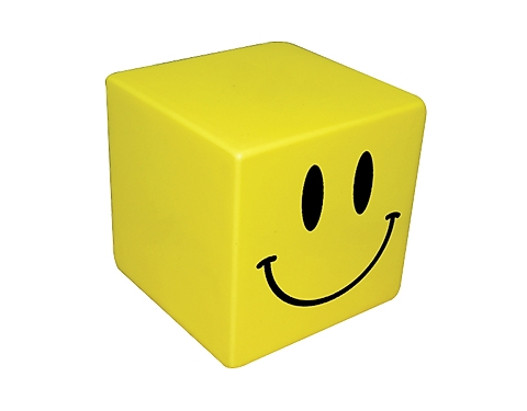 Smiley Cube Stress Toy