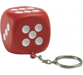 Dice Keyring Stress Toy  by Gopromotional - we get your brand noticed!