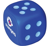 Dice Stress Toys - Numbered 2 To 6  by Gopromotional - we get your brand noticed!