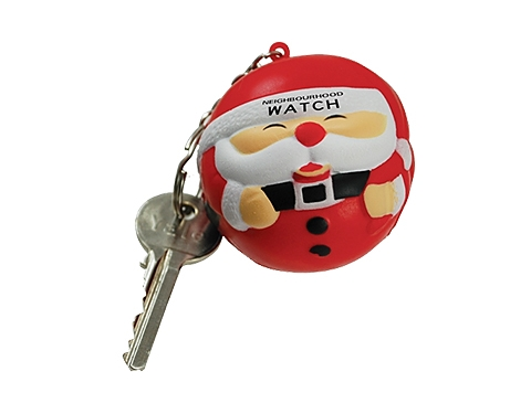 Father Christmas Keyring Stress Toy