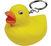 Duck Keyring Stress Toy  by Gopromotional - we get your brand noticed!
