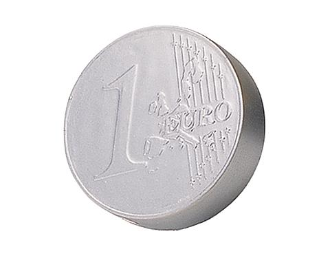 Silver Euro Coin Stress Toy