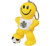 Smiley Football Man Keyring Stress Toy