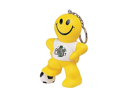 Smiley Football Man Keyring Stress Toy