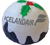 Christmas Pudding Stress Toy  by Gopromotional - we get your brand noticed!