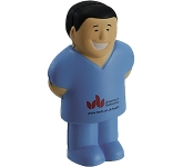 Male Surgeon Stress Toy  by Gopromotional - we get your brand noticed!