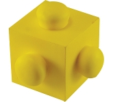 Square Building Block Stress Toy  by Gopromotional - we get your brand noticed!