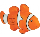 Clown Fish Stress Toy  by Gopromotional - we get your brand noticed!
