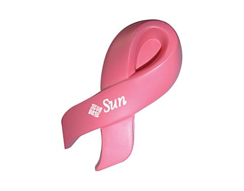 Cancer Awareness Ribbon Stress Toy