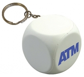 Decision Dice Keyring Stress Toy  by Gopromotional - we get your brand noticed!