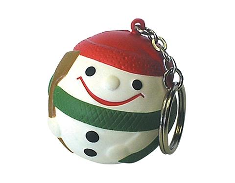 Snowman Keyring Stress Toy