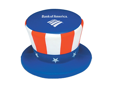 Uncle Sam Top Hat Stress Toy