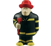 Fireman Stress Toy  by Gopromotional - we get your brand noticed!