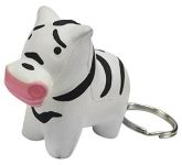 Zebra Keyring Stress Toy  by Gopromotional - we get your brand noticed!