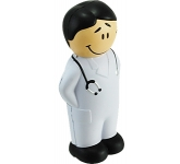 Young Male Doctor Stress Toy  by Gopromotional - we get your brand noticed!