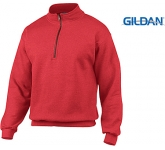 Gildan Heavy Blend Vintage Cadet Collar Zipped Sweatshirt