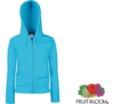 Fruit Of The Loom Premium Lady-Fit Zipped Hoody  by Gopromotional - we get your brand noticed!