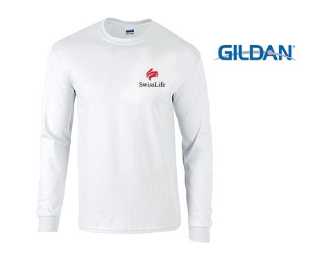 Gildan Ultra Long Sleeved T-Shirts - White