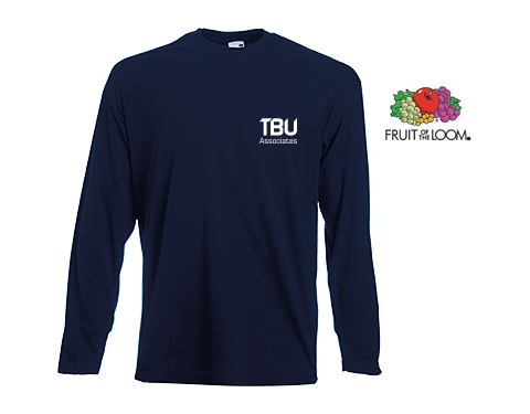 Fruit Of The Loom Long Sleeved Value Weight T-Shirts - Coloured