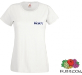 Fruit Of The Loom Value Weight Women's T-Shirts - White