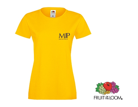 Fruit Of The Loom Sofspun Women's T-Shirts - Coloured