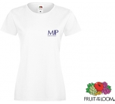 Fruit Of The Loom Sofspun Women's T-Shirts - White