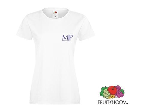 Fruit Of The Loom Sofspun Women's T-Shirts - White