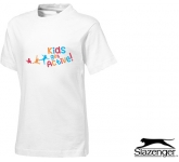 Slazenger Ace Kids T-Shirts - White  by Gopromotional - we get your brand noticed!