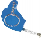 Thumbs Up Keyring Tape Measure  by Gopromotional - we get your brand noticed!