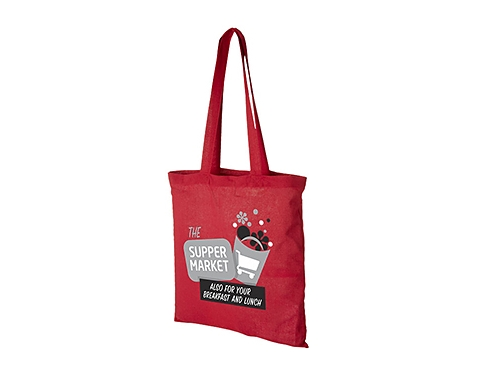 Carolina Long Handled Cotton Tote Bag