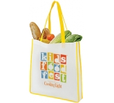 Vienna Contrast Tote Shopping Bag  by Gopromotional - we get your brand noticed!