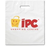 White Plastic Carrier Bag  by Gopromotional - we get your brand noticed!