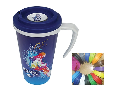 ColourBrite Cubana Cafe Printed 350ml Travel Mug