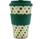 400ml eCoffee Cups - Green Polka