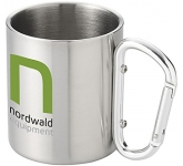 Carabiner Stainless Steel Travel Mug  by Gopromotional - we get your brand noticed!
