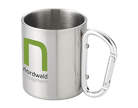 Carabiner Stainless Steel Branded Travel Mug