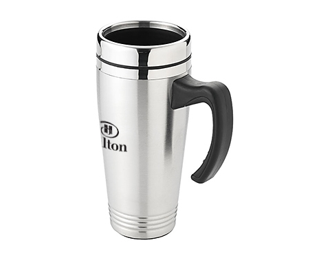 Lincoln 500ml Printed Stainless Steel Travel Mug