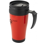 Leisure Branded Plastic Travel Mug  by Gopromotional - we get your brand noticed!