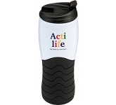 Trecker Rubber Grip Thermal Travel Tumbler  by Gopromotional - we get your brand noticed!