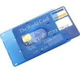 Plastic Credit  Card Holder  by Gopromotional - we get your brand noticed!