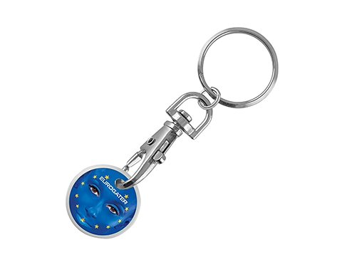 Vision ColourBrite Trolley Coin Keyring