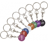 Flamboyant Trolley Coin Keyring  by Gopromotional - we get your brand noticed!