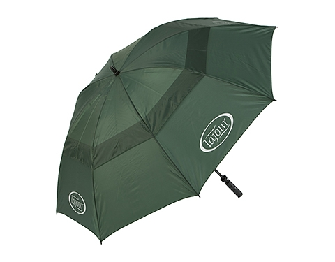 Stormy Weather For Public Libraries And >> Promotional Susino Golf FibrePlus Vented Umbrella Printed with your Logo at GoPromotional