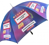 Eclipse Silver Golf Umbrella  by Gopromotional - we get your brand noticed!